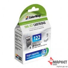 Картридж струменевий HP CW-H122XLCB Black ColorWay