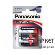 Батарейка R14 Alkaline Everyday Panasonic