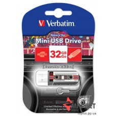 USB Флешка Mini Cassette Edition 32 Gb Black Verbatim