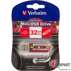 USB Флешка Mini Cassette Edition 32 Gb Red Verbatim