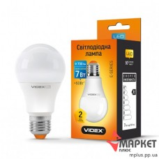 Лампочка LED A60e 7W 3000K Videx