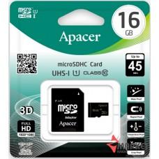 Карта пам'яті microSDHC 16 Gb UHS-I + SD Apacer