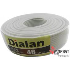 Коаксіальний кабель Dialan RG6U 48W CCS 1.02 мм Cu Мідь 48% 75 Ом 100 м