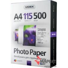 Фотопапір HGA4-115-500 Videx