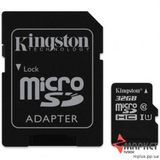 Карта пам'яті Kingston MicroSDHC 32 Gb UHS-1 + SD
