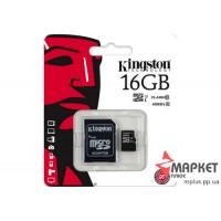 Карта пам'яті Kingston MicroSDHC+SD 16 Gb UHS-1