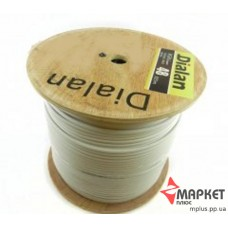 Коаксіальний кабель RG6U CCS 48W 75 Ом 305м білий Dialan