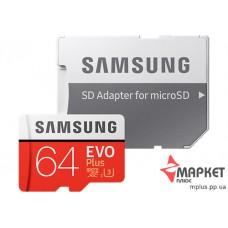 Карта пам'яті Samsung MicroSDXC 64 Gb UHS-1 U-3 + SD Evo