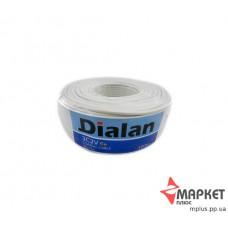 Коаксіальний кабель білий 3C2V Cu 0.5 75 Ом 100 м Dialan