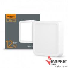 LED світильник накладний квадратний 12W 5000K 220V (VL-DLSS-125) Videx