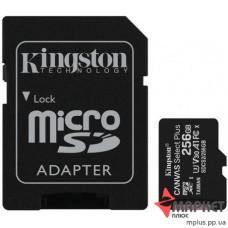 Карта пам'яті Kingston MicroSDXC 256 Gb UHS-1/U3 + SD