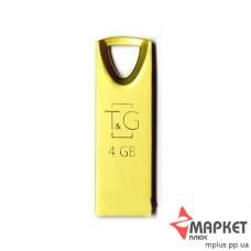 USB Флешка Metal 117 4 GB T&G Gold