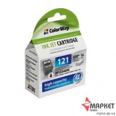 Картридж струменевий сумісний з HP CC641HE CW-H121XLB СolorWay