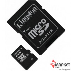 Карта пам'яті Kingston MicroSDHC 16 Gb С10 + SD