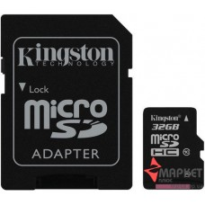 Карта пам'яті Kingston MicroSDHC 32 Gb С10 + SD