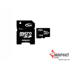 Карта пам'яті Team MicroSDHC 16 Gb C4 + SD