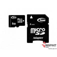 Карта пам'яті Team MicroSDHC 8 Gb C4 + SD