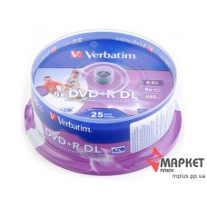 DVD+R Verbatim Double Layer Inkjet Printable 8x 8,5Gb cake(25)