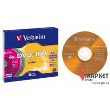 DVD+RW Verbatim 4x slim color