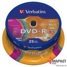 DVD-R Verbatim 16x cake(25) Color
