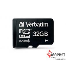 Карта пам'яті Verbatim MicroSDHC 32 Gb C10