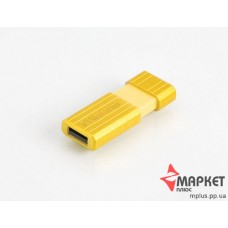 USB Флешка Verbatim StoreNGo 8 Gb Pin Stripe Yellow