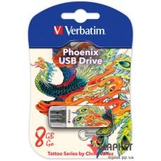 USB Флешка Verbatim StoreNGo 8 Gb Mini Tattoo Phoenix